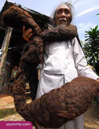 World's longest hair Man 2014 – افضل قناة لطرق التخلص من