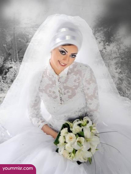 Veiled dresses Arab women 2015 Wedding Dress White 2016 ...
